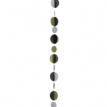 Balloon Tails - Gold Silver Black Circles Balloon Tail (1.2m) 1pc